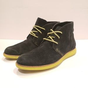Cole Haan Lunar Grand Chukka Shoes 7b navy boot